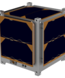 A 1U-CubeSat is 10 cm on each side and weighs 1 kg. Illustration: Space Inventor