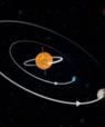 Backwards planets in double star system. Illustration: Christoffer Grønne.