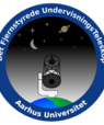FUT - det Fjernstyrede UndervisningsTeleskop. Logo: AU.